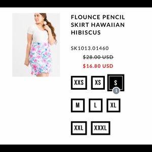 Flounce Pencil Skirt